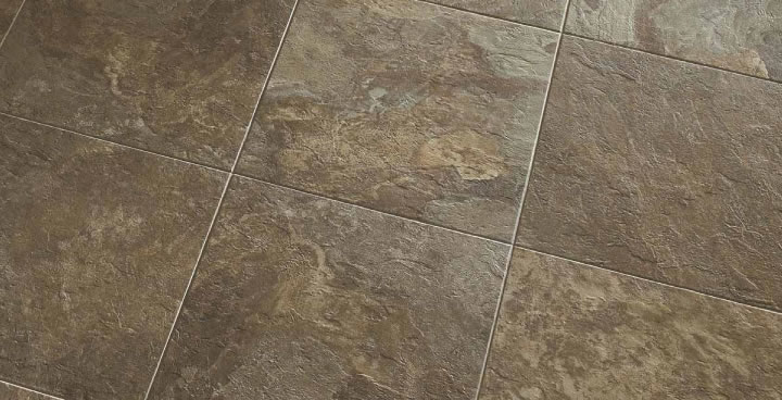 Vinyl flooring with a stone look